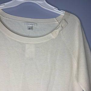 Banana Republic Tops - NWT Banana Republic Cream Sweater Silk Blend Shirt